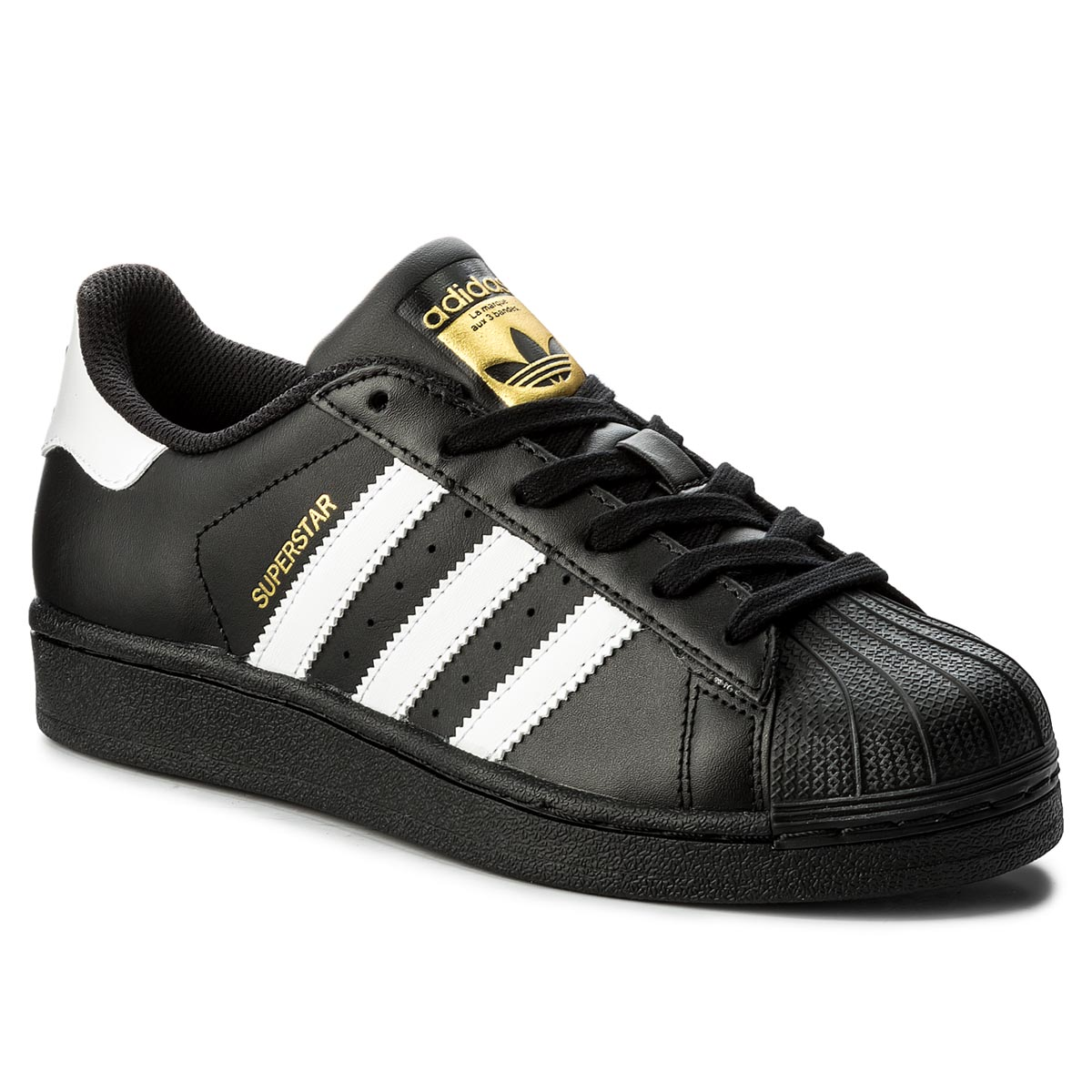 Topánky adidas - Superstar B23642 CBlack/FtWht/CBlack