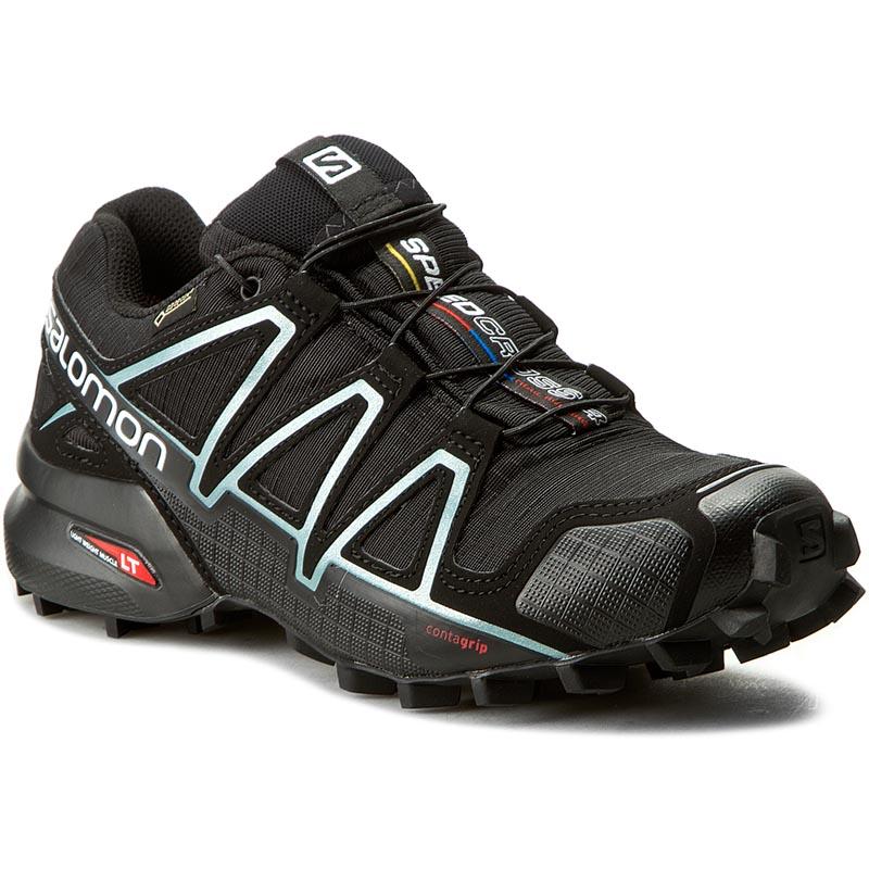 Topánky SALOMON - Speedcross 4 Gtx W GORE-TEX 383187 20 G0 Black/Black