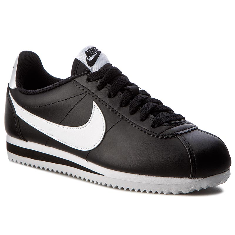 Topánky NIKE - Classic Cortez Leather 807471 010 Black/White/White