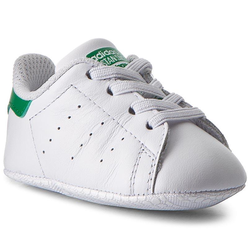 Topánky adidas - Stan Smith Crib B24101 Ftwwht/Ftwwht/Green