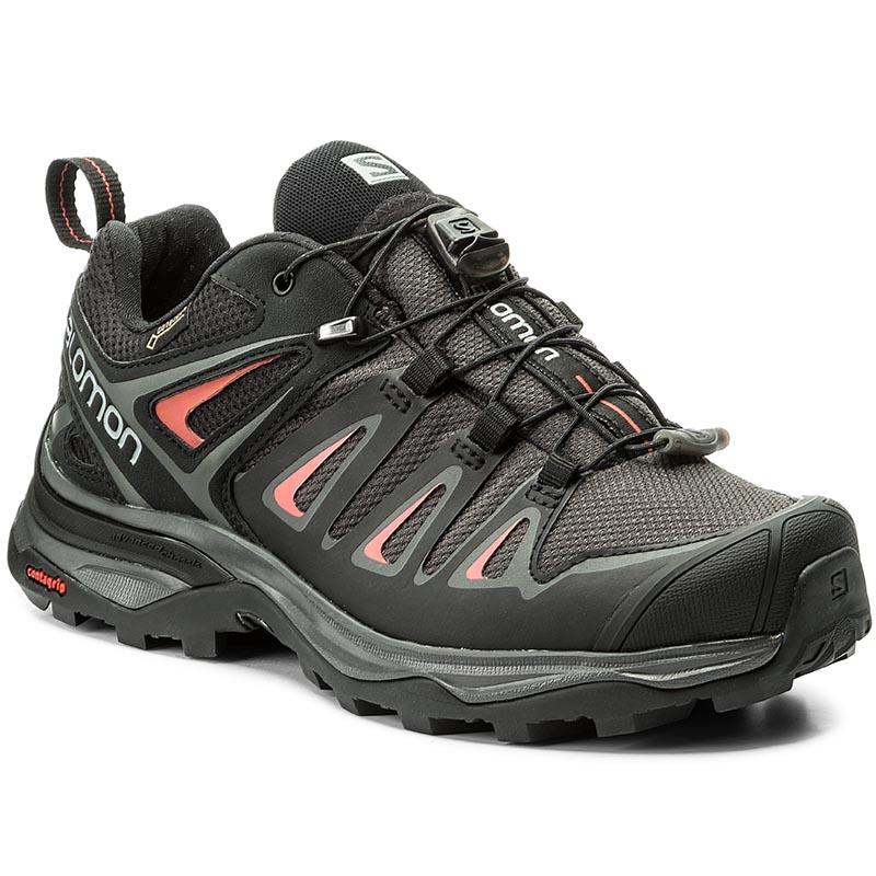 Trekingová obuv SALOMON - X Ultra 3 Gtx W GORE-TEX 398685 20 V0 Magnet/Black/Mineral Red