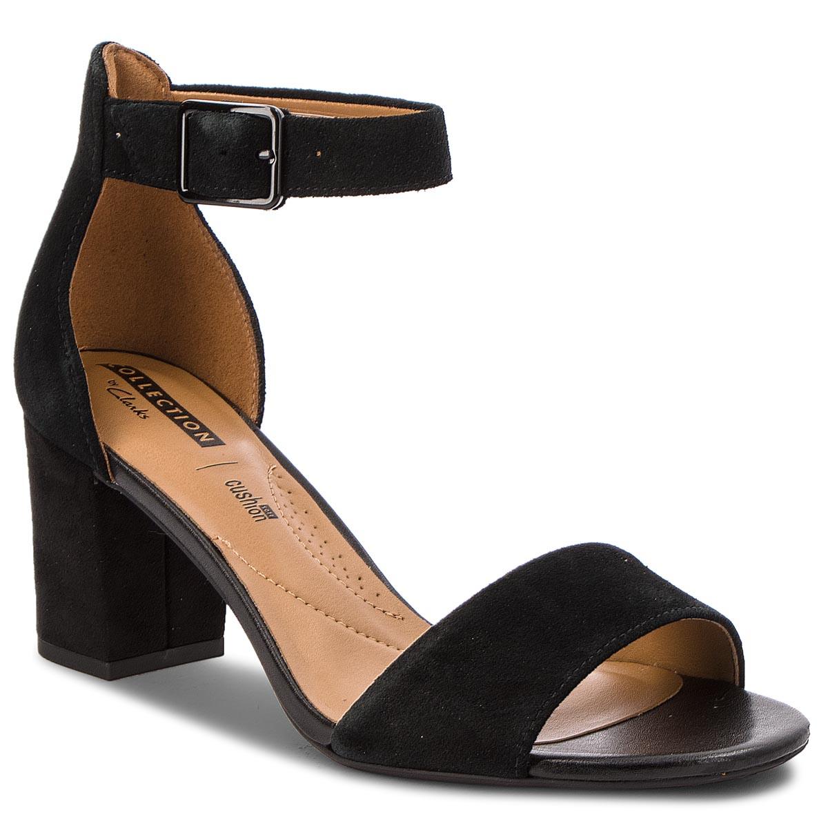 Sandále CLARKS - Deva Mae 261275684 Black Suede