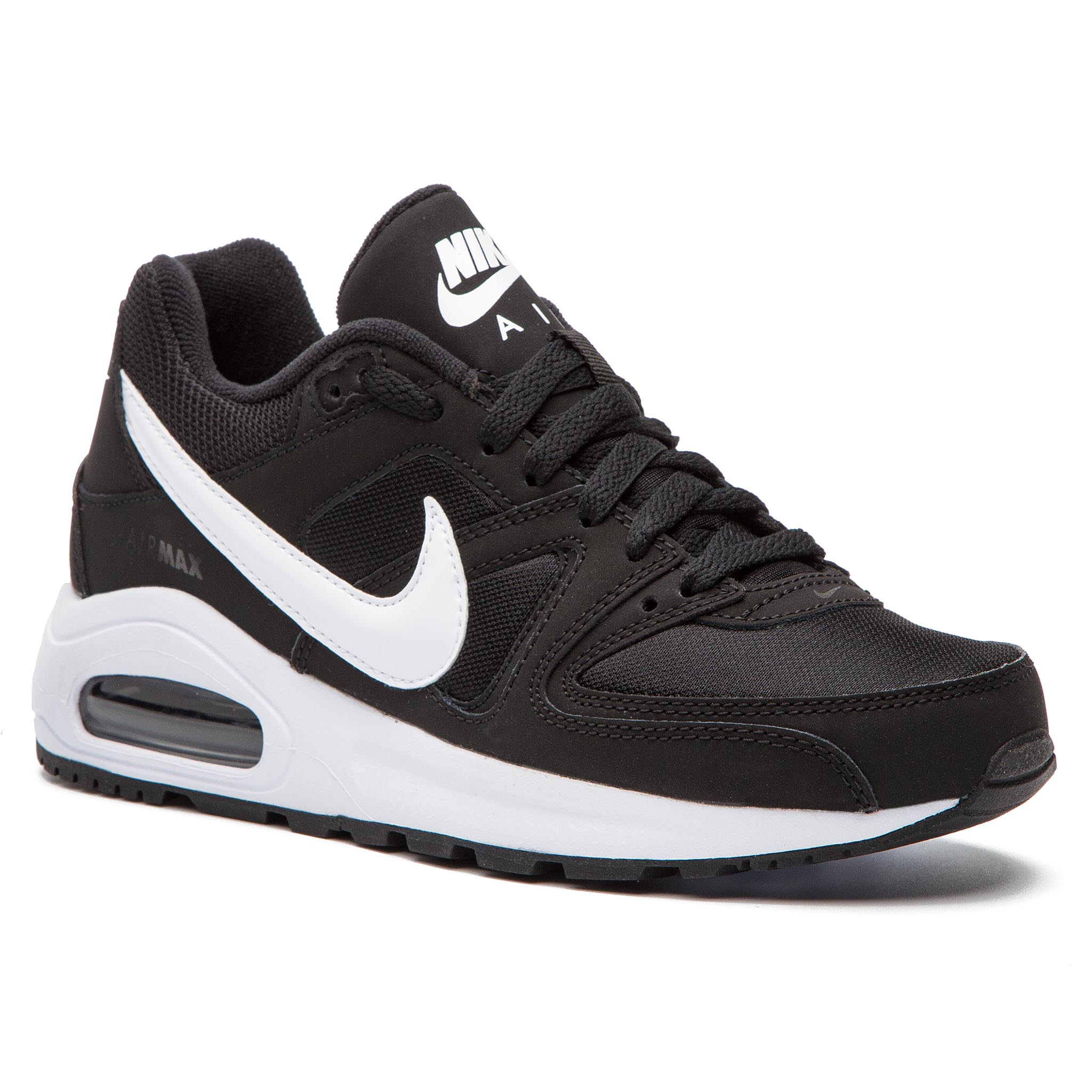 Topánky NIKE - Air Max Command Flex (GS) 844346 011 Black/White/White