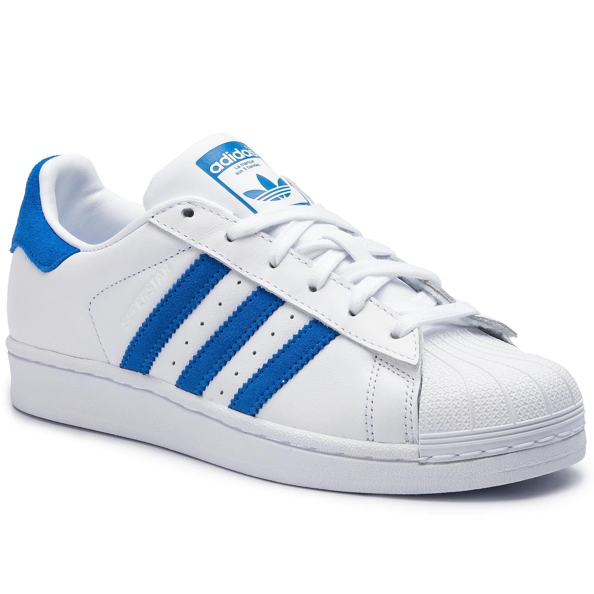 Topánky adidas - Superstar EE4474 Ftwwht/Blue/Ftwwht