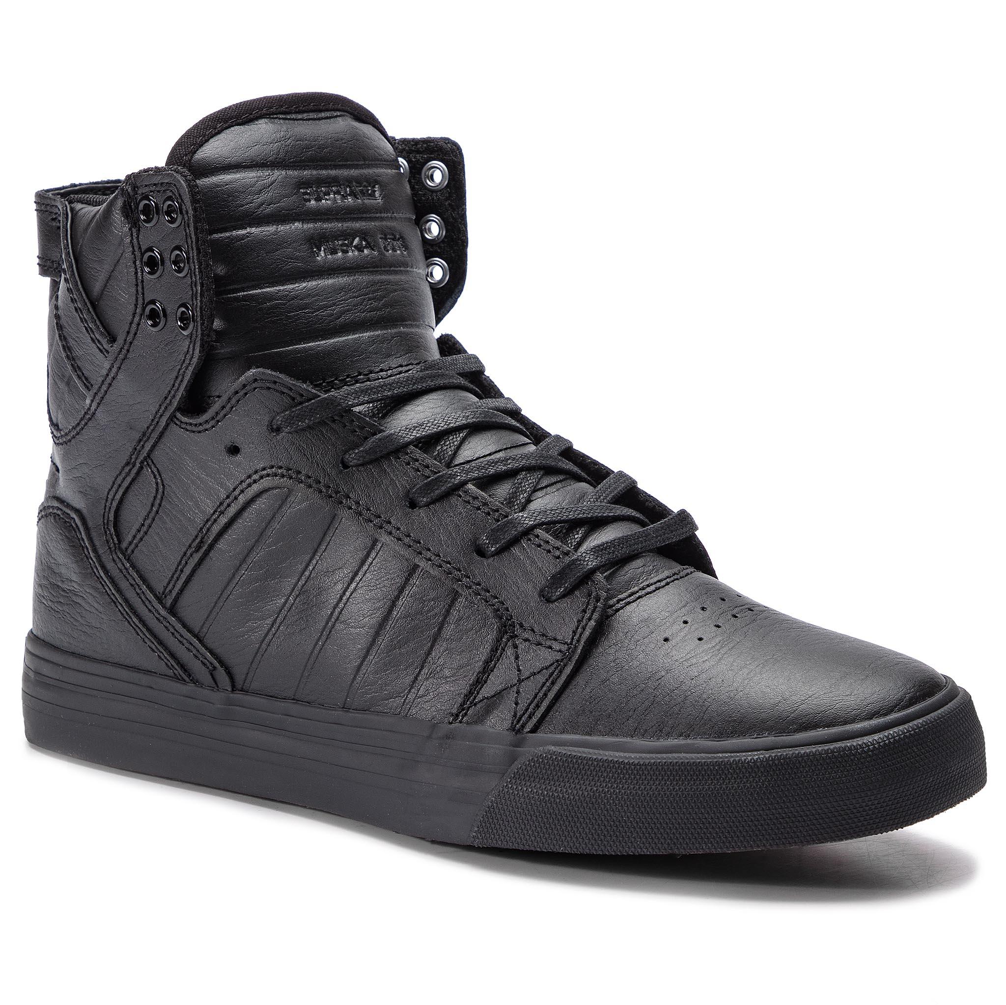 Sneakersy SUPRA - Skytop 08003-081-M Black/Black/Red
