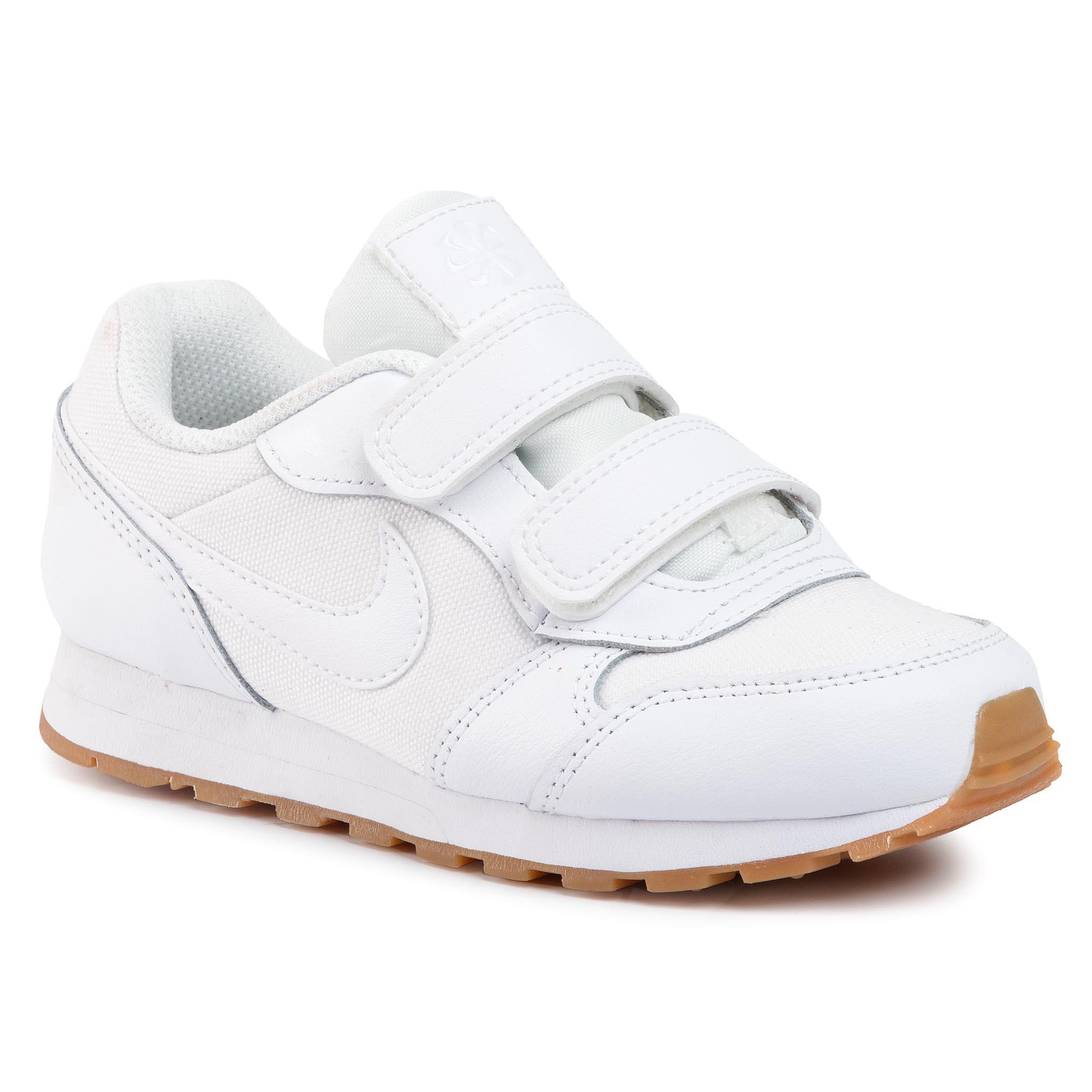 Topánky NIKE - Md Runner 2 Flrl (Psv) CD9466 100 White/White/Gum Light Brown