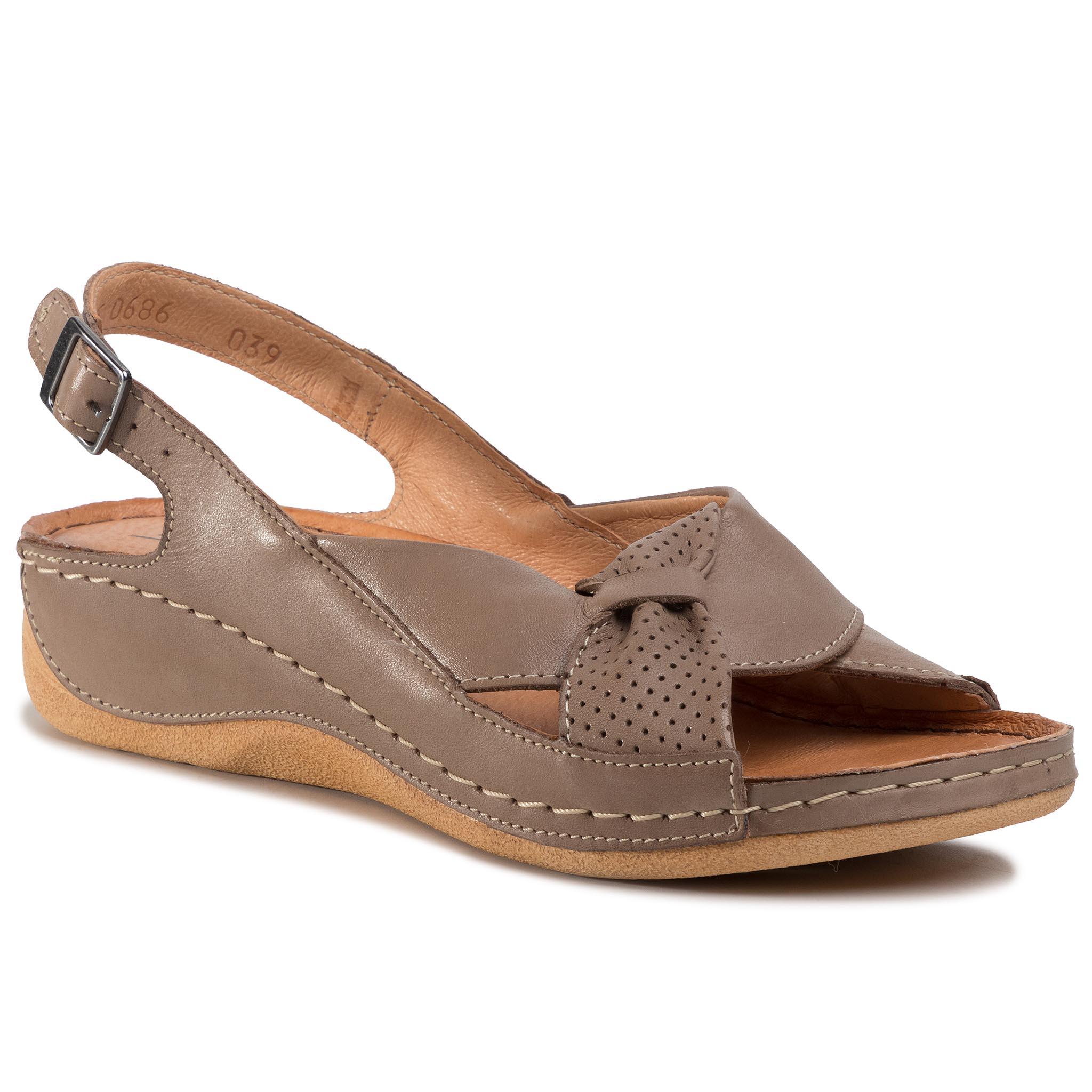 Sandále POLLONUS - 5-0686-039 Capucino
