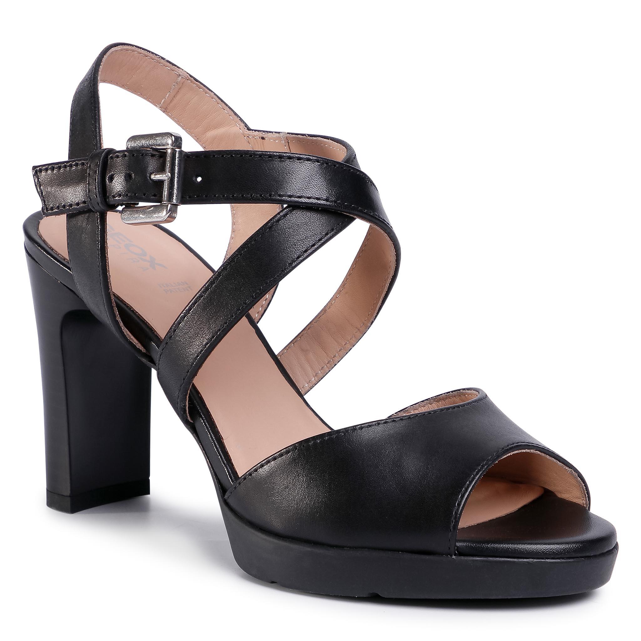 Sandále GEOX - D Annya H.Sand D D02CLD 00043 C9999 Black