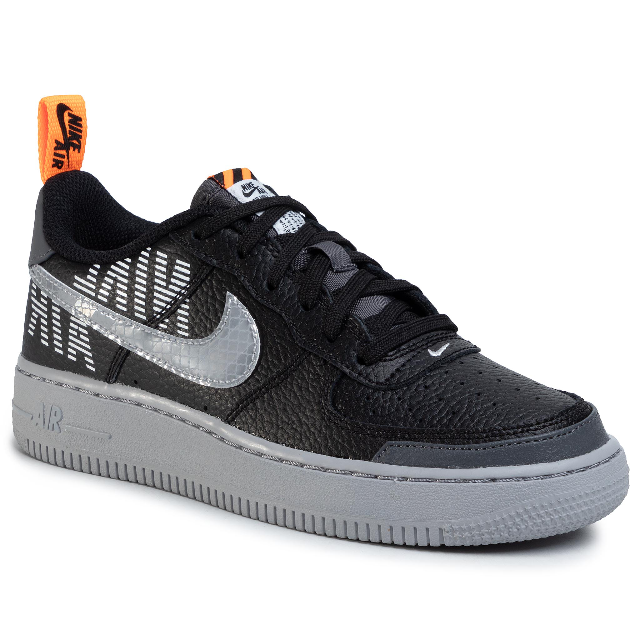 Topánky NIKE - Air Force 1 LV8 2 (GS) BQ5484 001 Black/Wolf Grey/Dark Grey