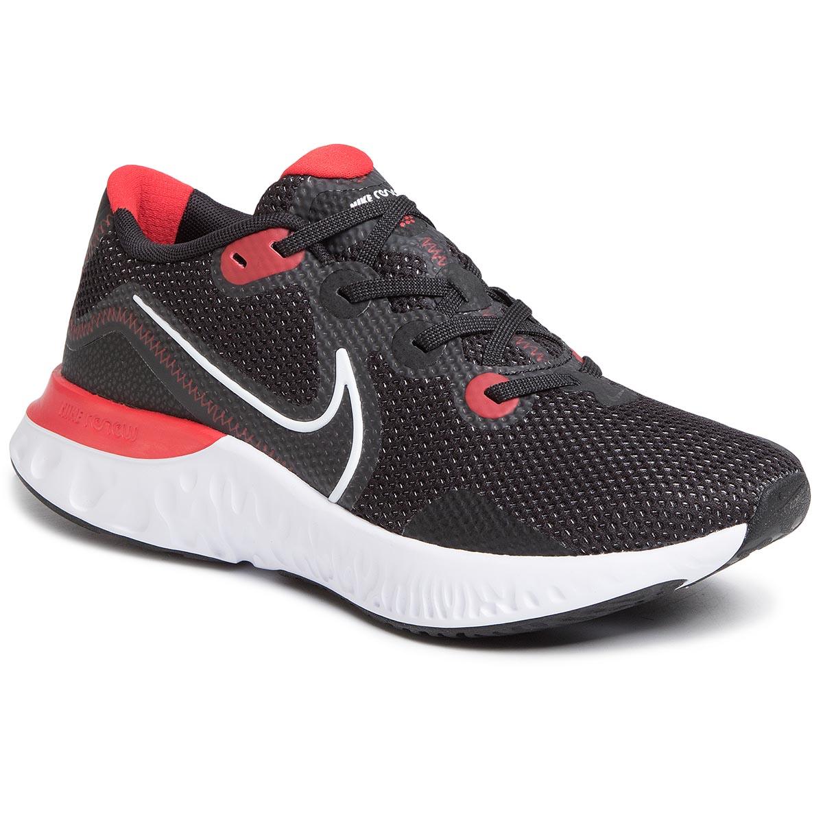 Topánky NIKE - Renew Run CK6357 005 Black/White/University Red