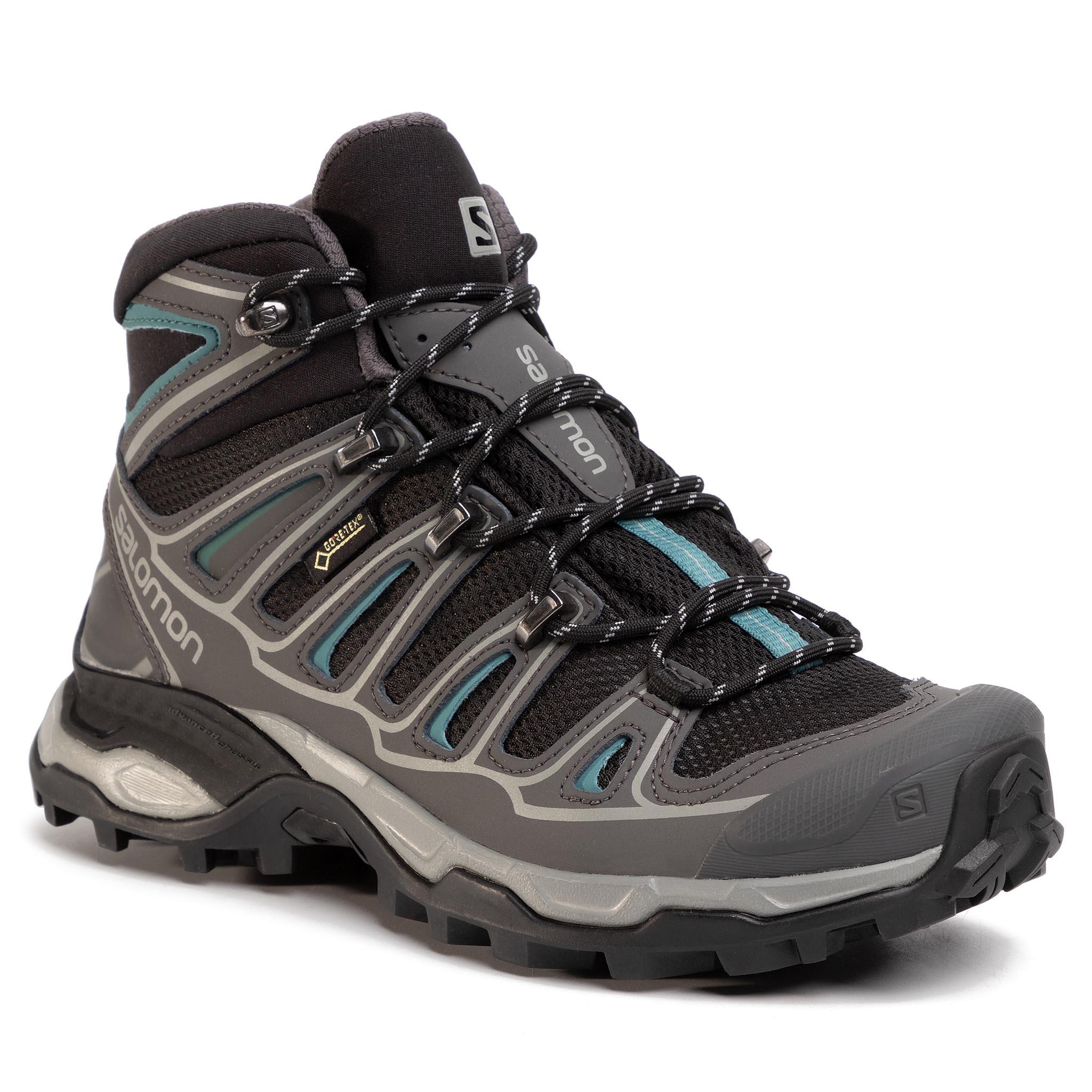 Trekingová obuv SALOMON - X Ultra Mid 2 W Spikes Gtx 404751 21 V0 Black/Magent/Hydro.