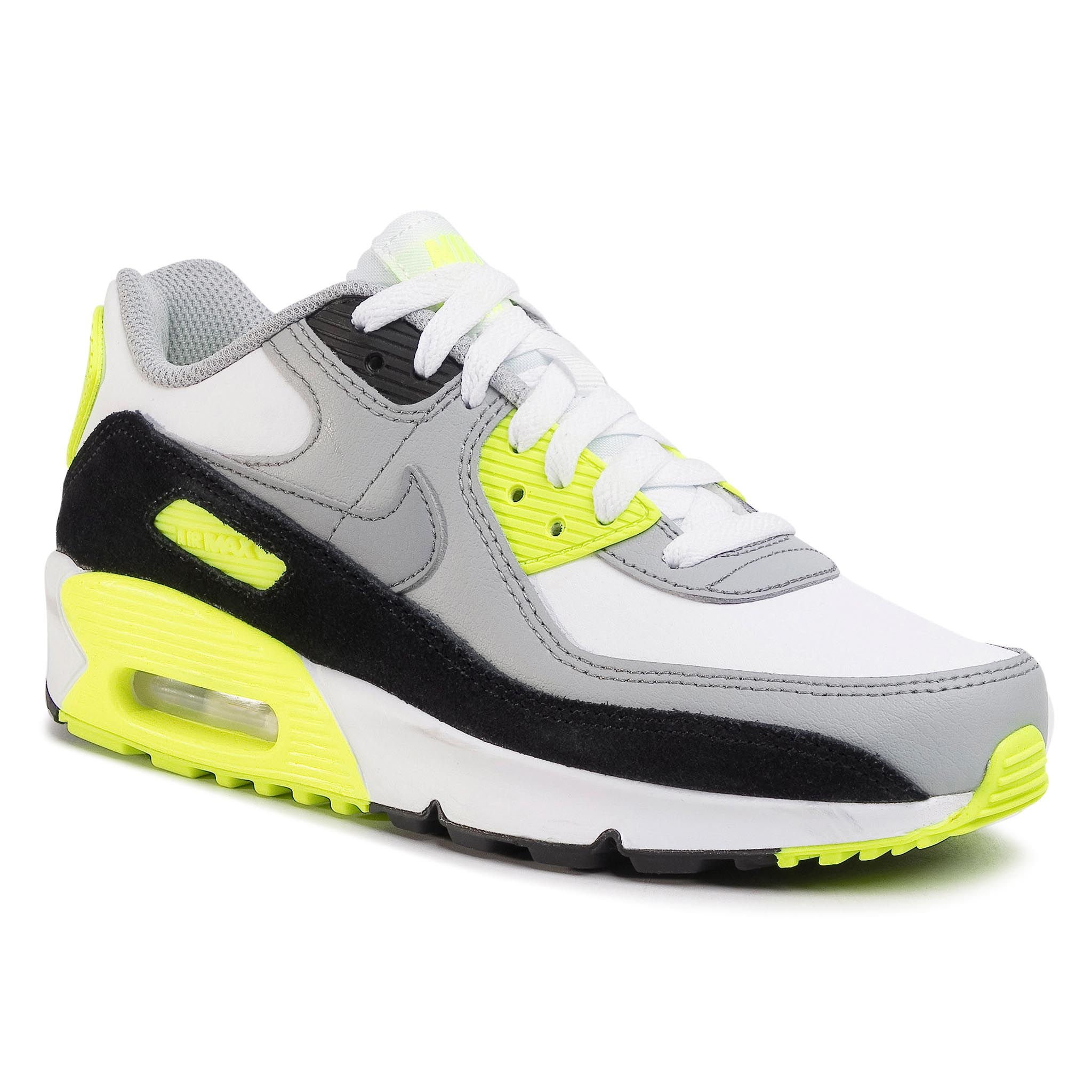Topánky NIKE - Air Max 90 Ltr (GS) CD6864 101 White/Particle Grey