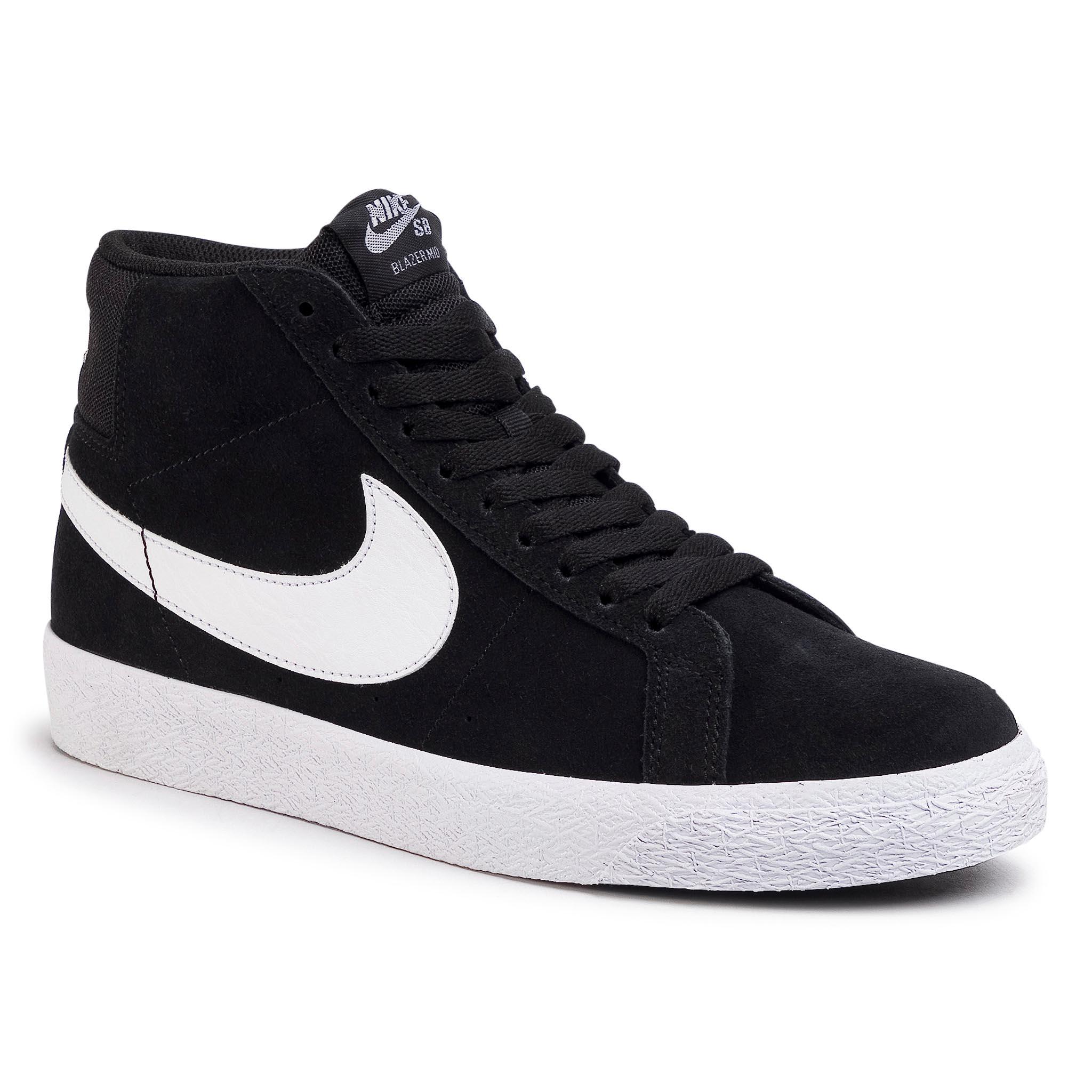 Topánky NIKE - Sb Zoom Blazer Mid 864349 002 Black/White/White/White