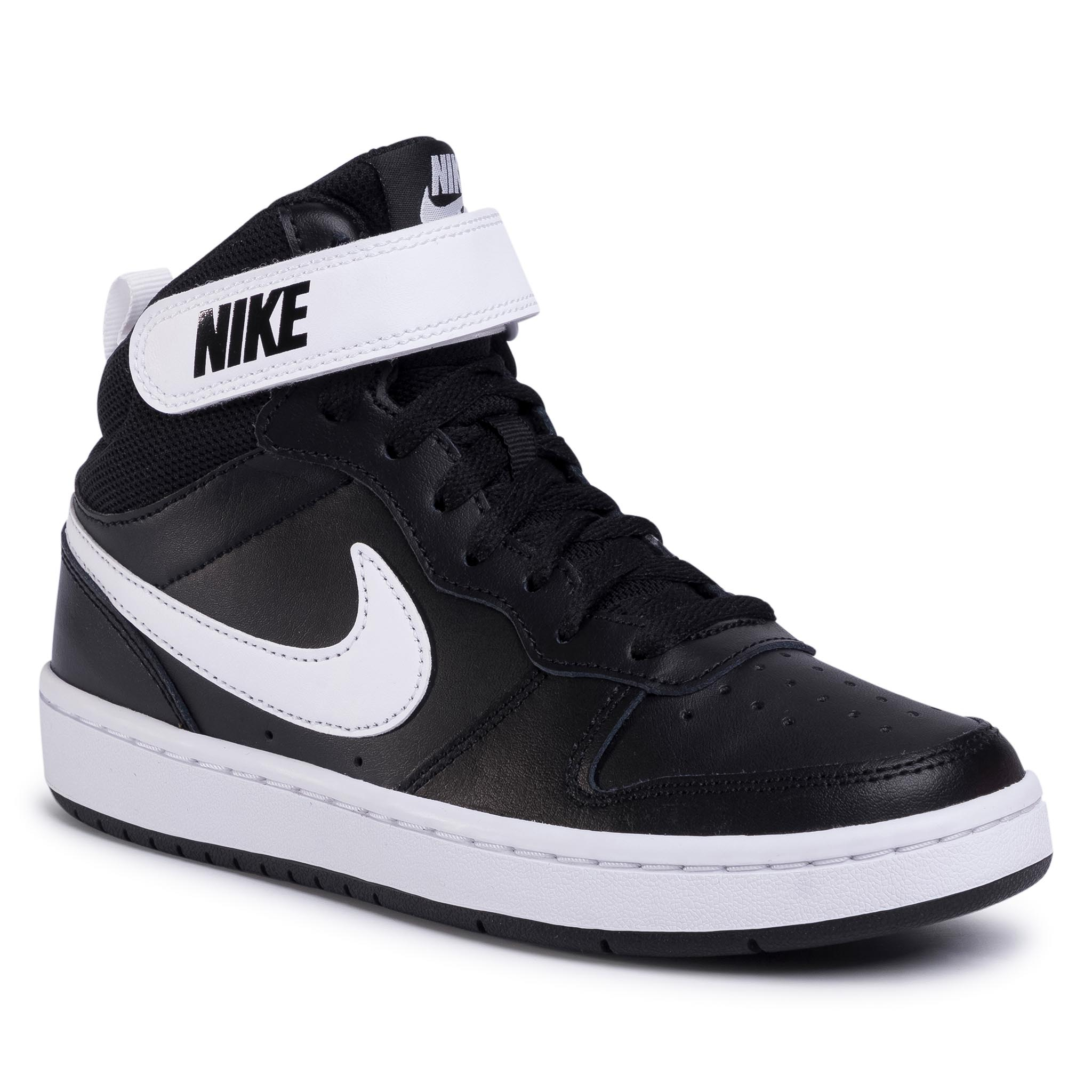 Topánky NIKE - Court Borough Mid 2 (GS) CD7782 010 Black/White