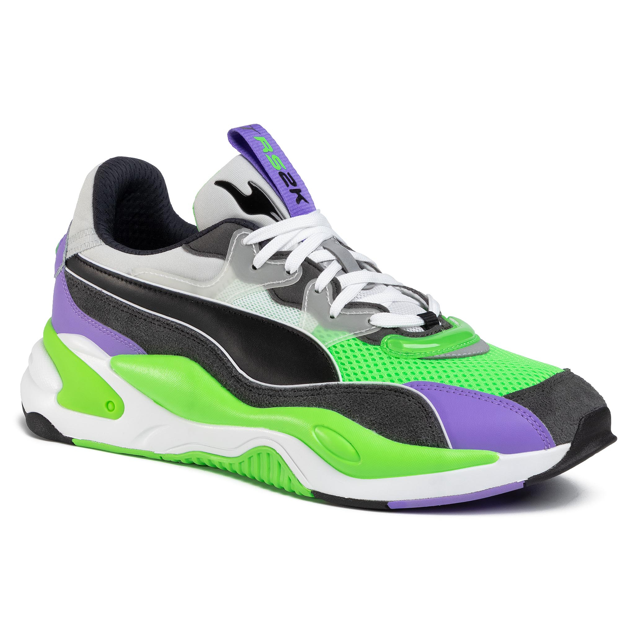Sneakersy PUMA - Rs-2k Internet Exploring 373309 02 Dark Shadow/Fluo Green