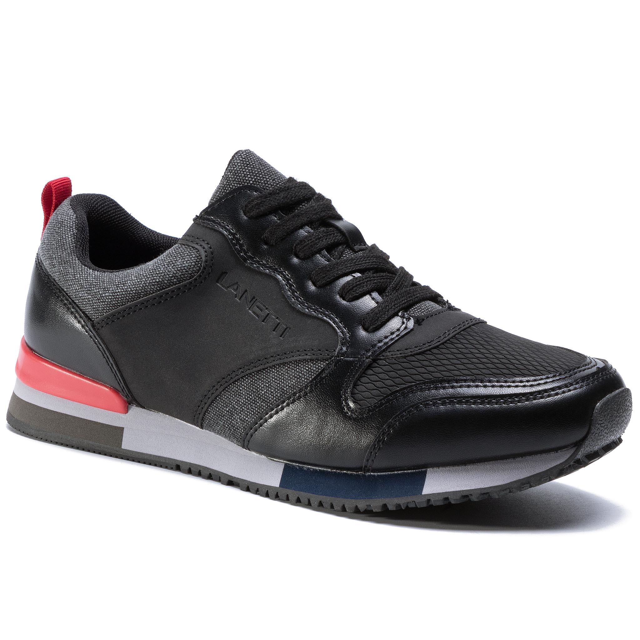 Sneakersy LANETTI - MF19023-2 Black
