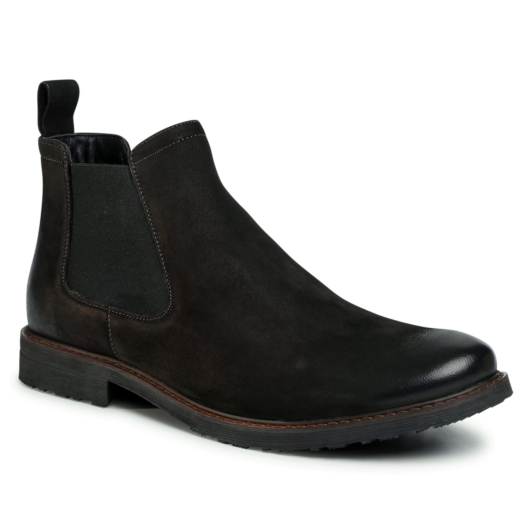 Kotníková obuv s elastickým prvkom LASOCKI FOR MEN - MI08-C307-250-02 Black 1