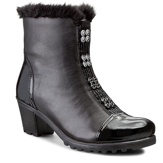Členková obuv RIEKER - Y8099-00 Black - Kotníková obuv - Čižmy a iné ... 7633cb747c9