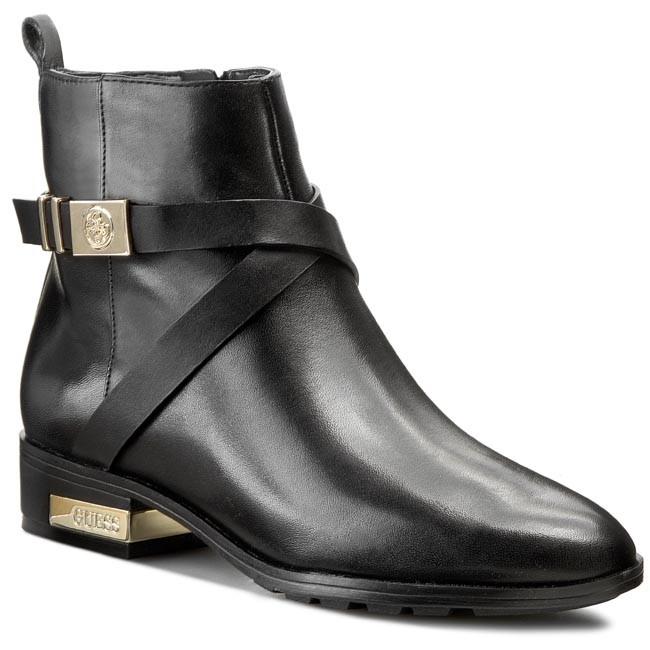 5a7c47aca1ac Členková obuv GUESS - Ziven FL4ZIV LEA09 BLACK - Kotníková obuv ...