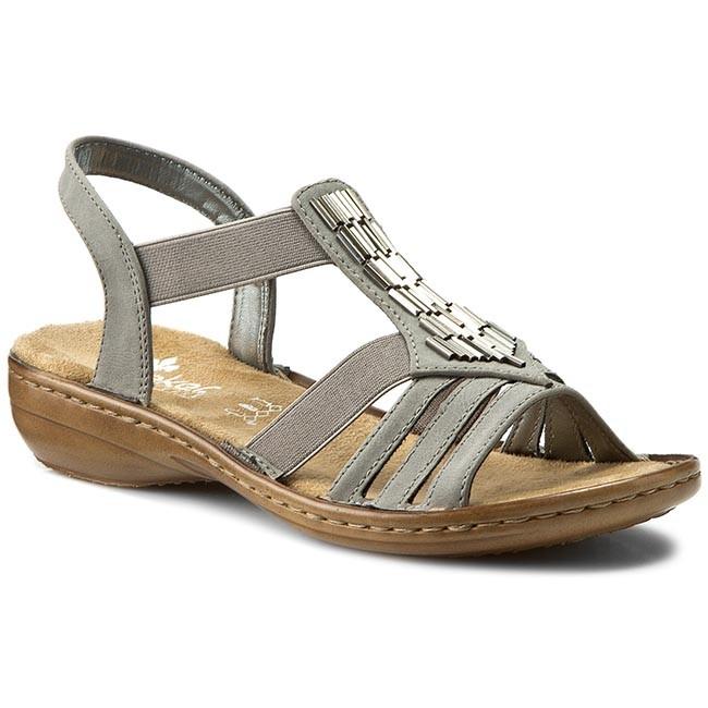 Sandále RIEKER - 60800-42 Grey - Sandále na každodenné nosenie ... 7c5107bfeb1