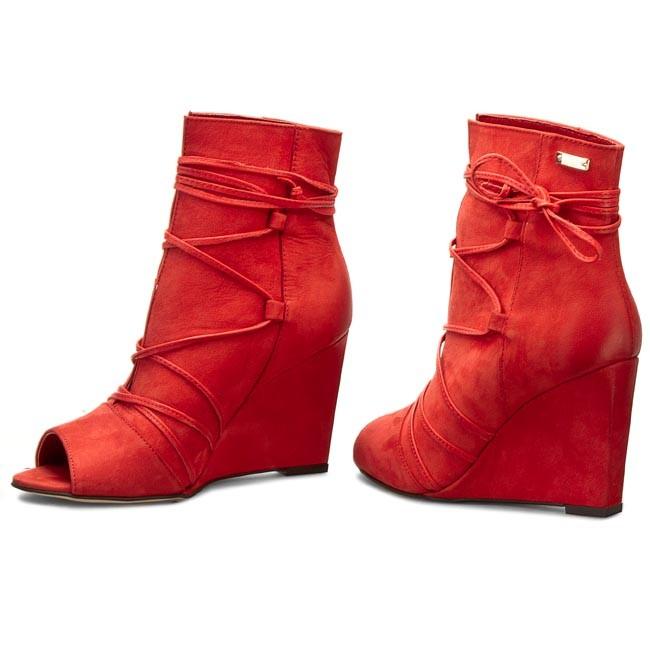 Členková obuv CARINII - B3511 Samuel 1924 Oassi Rosso - Kotníková ... c75a38bf192