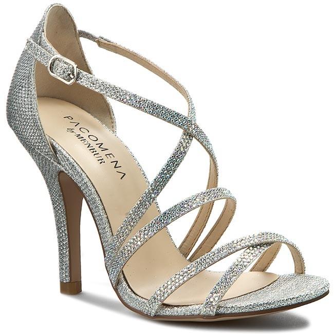 924c4c41f8ff Sandále MENBUR - PACOMENA 07015 Silver 0009 - Elegantné sandále ...