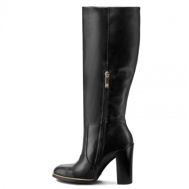 Čižmy TOMMY HILFIGER - High Leather Boot Hg 3A FW56821612 Black 990 - Čižmy  - Čižmy a iné - Dámske - www.eobuv.sk a09801cdcaf