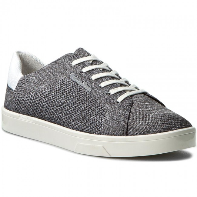 8761934f32 Tenisky CALVIN KLEIN - Ilene 2 E2988 Grey White - Ploché ...