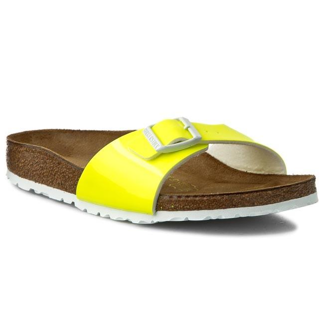 cb14edb9d3a5 Šľapky BIRKENSTOCK - Madrid 0439843 Patent Neon Yellow - Šľapky ...