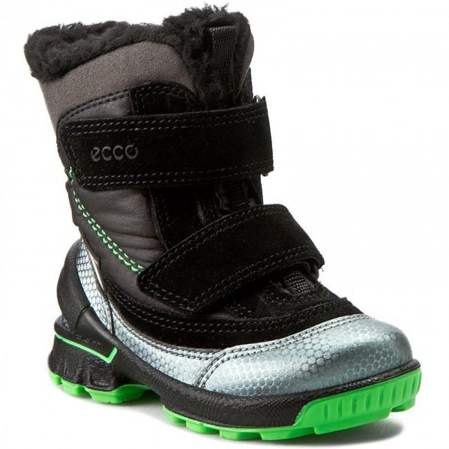Snehule ECCO - Biom Hike Infant GORE-TEX 75356159997 Buffed  Silver Black Black 1e2b790a6e6