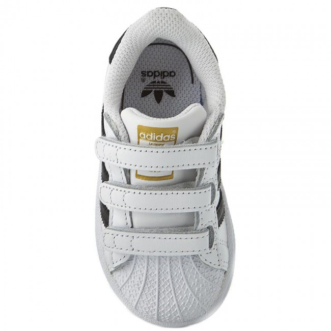 Topánky adidas - Superstar Foundation Cf1 B23637 Ftwwht Cblack Ftwwht - Na  suchý zips - Poltopánky - Diavča - Detské - www.eobuv.sk dbc3bb1f138