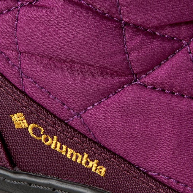Snehule COLUMBIA - Youth Minx Slip Omni-Heat Waterproof BY1329 Intense  Violet Flame Orange 937c3ba7b9