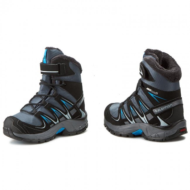 Outdoorová obuv SALOMON - Xa Pro 3D Winter Ts Cswp K 378428 04 M0 Grey Denim 9f8eb0472f0