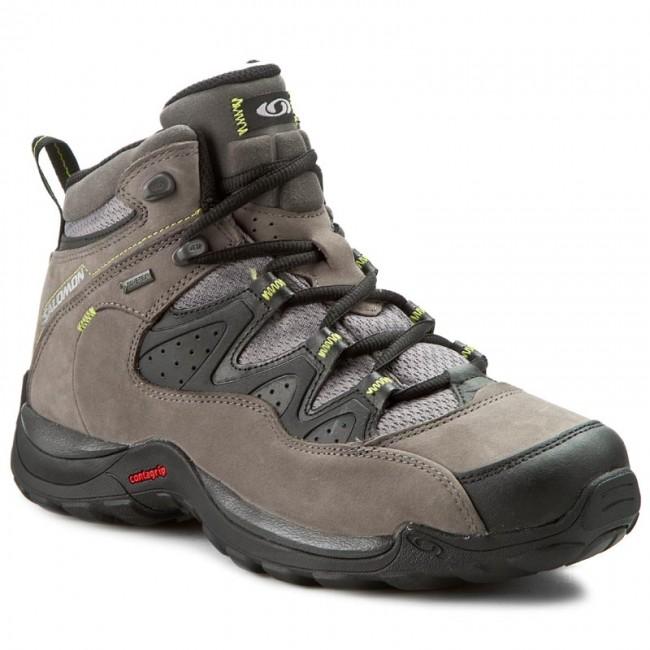 Outdoorová obuv SALOMON - Elios Mid Gtx 3 391875 26 V0 Autobahn Black Green e911e147642