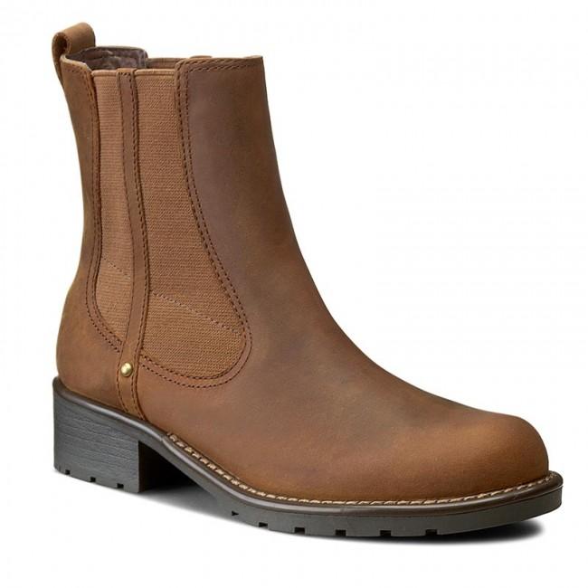 Koníková obuv s elastickým prvkom CLARKS - Orinoco Club 203409174 Brown  Snuff 12474ec0875