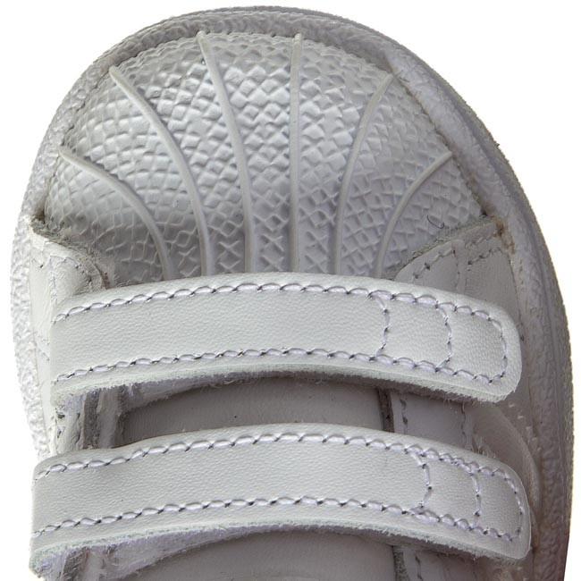 Topánky adidas - Superstar Foundation Cf1 B25725 Ftwwht Ftwwht Ftwwht - Na  suchý zips - Poltopánky - Chlapec - Detské - www.eobuv.sk eafbe4d921f