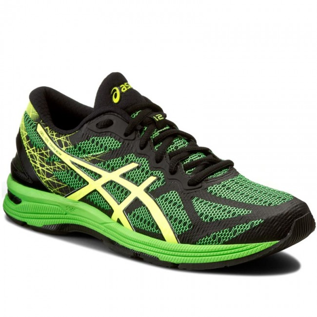 Topánky ASICS - Gel-Ds Trainer 21 T624N Black Safety Yellow Green Gecko 86d2fa084c0