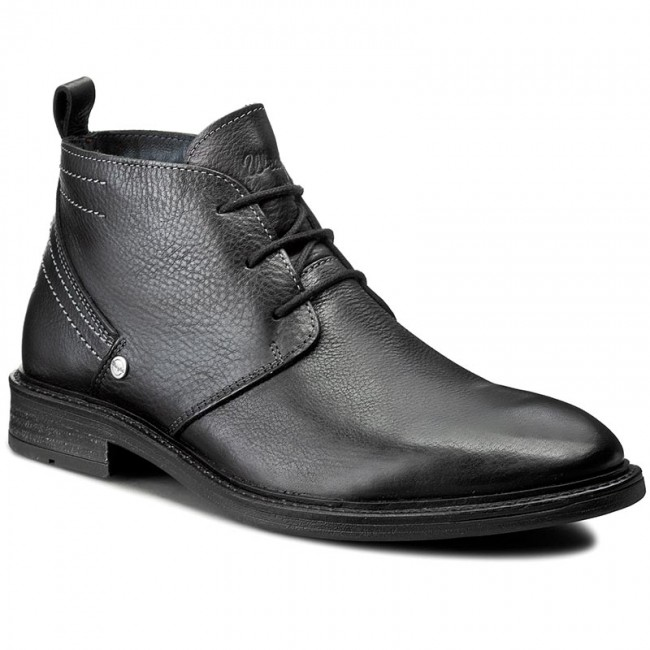 Outdoorová obuv WRANGLER - Roll Desert Leather WM162051 Black 62 ... 7dbf7ef9df7