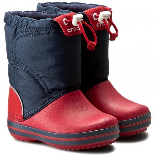 Snehule CROCS - Crocband Lodgepoint Boot K 203509 Navy Red - Outdoorová obuv  - Čižmy a iné - Chlapec - Detské - www.eobuv.sk 5773aedd0c7