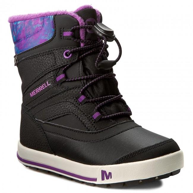 Snehule MERRELL - Snow Bank 2Wtrpf MC56089 Bk Gry - Outdoorová obuv ... 747bee174c8