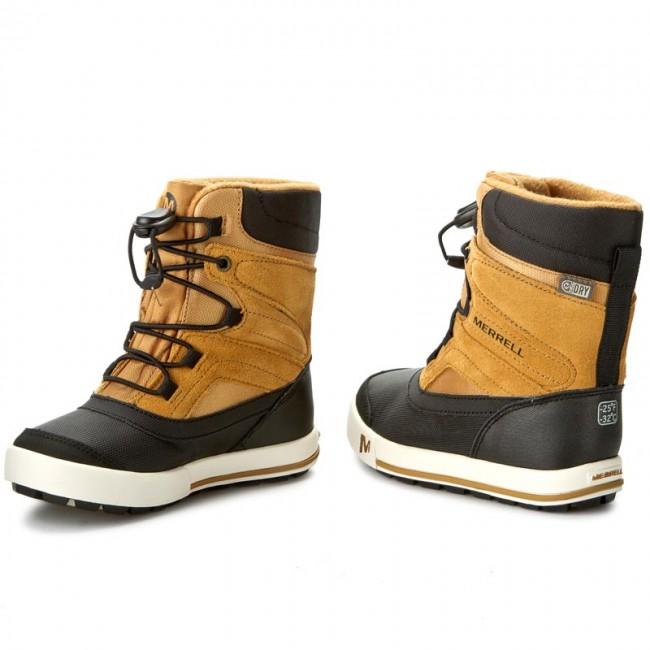 Snehule MERRELL - Snow Bank 2Wtrpf MC56187 Wheat - Outdoorová obuv ... a738db255d9