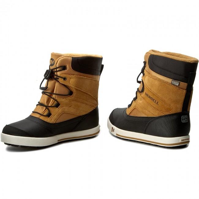 Snehule MERRELL - Snow Bank 2Wtrpf MY56187 Wheat - Outdoorová obuv ... 8d83af60e76
