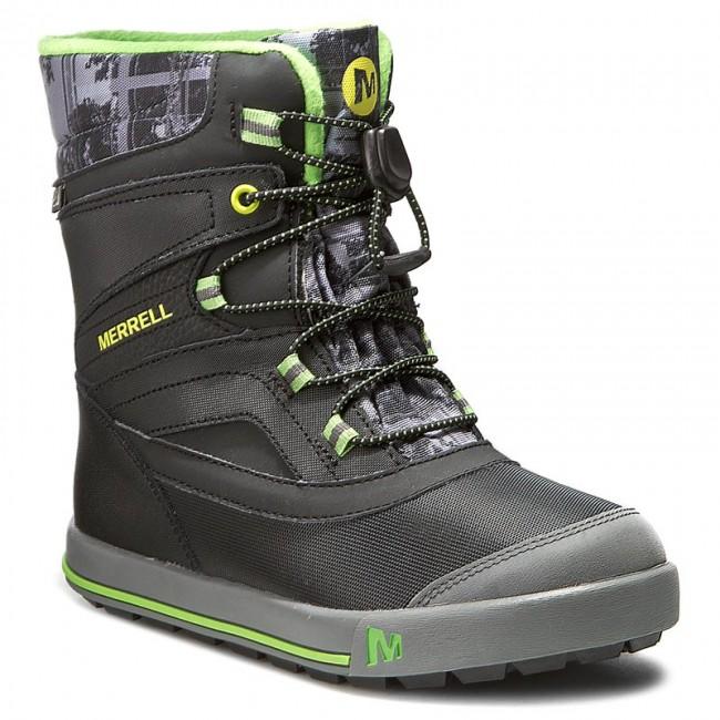 Snehule MERRELL - Snow Bank 2Wtrpf MC55597 Blk Gry - Outdoorová obuv ... 32ec4eda431