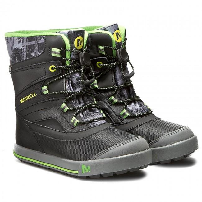 Snehule MERRELL - Snow Bank 2Wtrpf MC55597 Blk Gry - Outdoorová obuv -  Čižmy a iné - Chlapec - Detské - www.eobuv.sk a6f6a9644c4