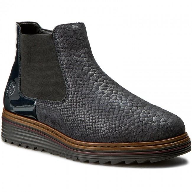 Členková obuv RIEKER - Y6384-14 Blue - Kotníková obuv - Čižmy a iné ... e15f0153670