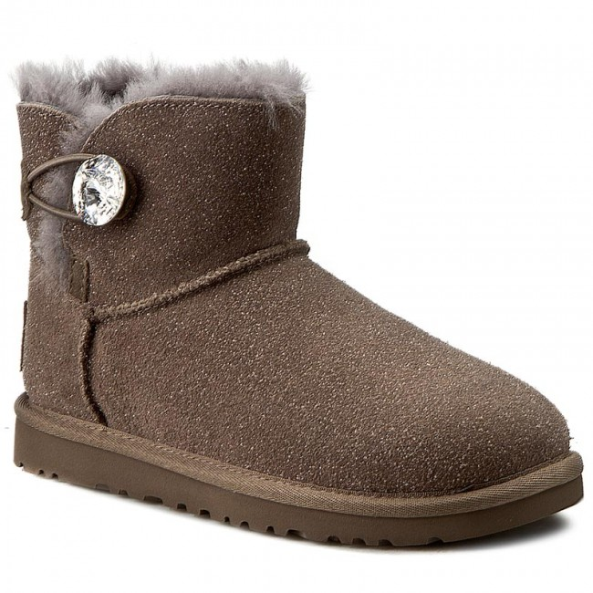 Topánky UGG - W Mini Bailey Button Bling Serein 1014976 W Sygr - UGG ... 07c6d2ea9f8