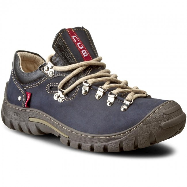 Trekingová obuv NAGABA - 055 Granat Pull-Up - Outdoorové topánky ... e061889874