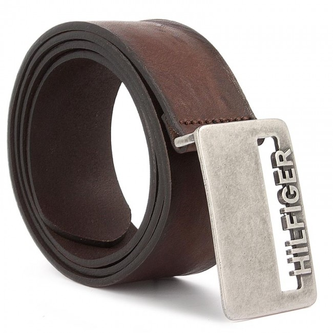 Opasok Pánsky TOMMY HILFIGER - DENIM Thd Cut Plaque Belt 4.0 AM0AM02114 90  254 9ffb32a2afe