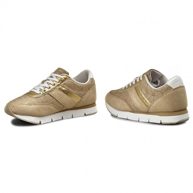 Sneakersy CALVIN KLEIN JEANS - Tea 9644 Gold Gold - Sneakersy ... 0d409396f98