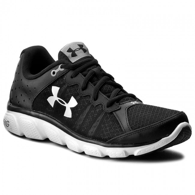 96a9db8b24eed Topánky UNDER ARMOUR - Ua Micro G Assert 6 1266224-001 Blk/Wht/Wht ...